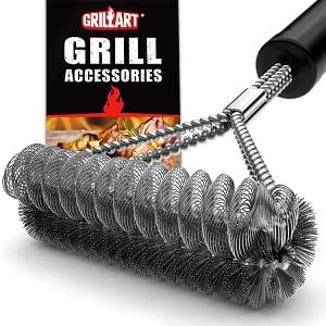 GRILLART Grill Brush Bristle Free Wire Combined BBQ Brush