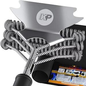 Kitchen perfection 3 in 1 Dream Set - Safe Grill Brush and Scraper Bristle Free + Heavy Duty Grill Mat
