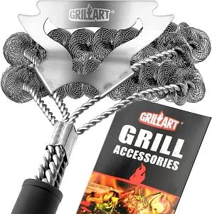GRILLART Bristle Free Grill Brush & Scraper